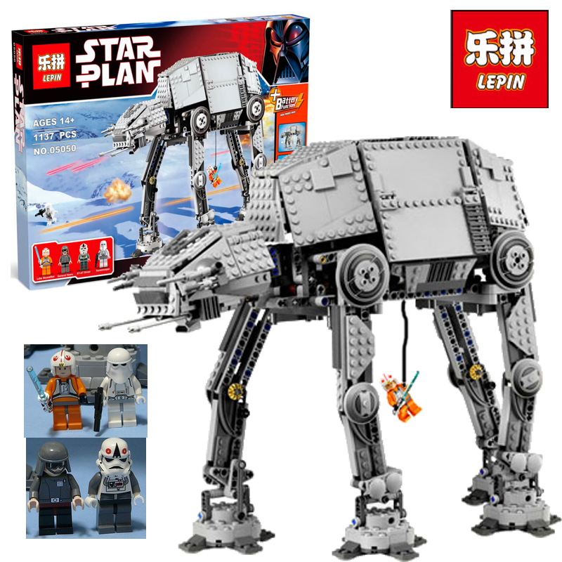 LEPIN 05050 Star Series War AT-the AT Robot Electric Remote Control Building Blocks Toys Kids Gift Bricks Toys legoINGlys 10178 skylake рубашка для мальчика premium skylake