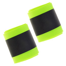 2 Roll Polyester Reflective Webbing Ribbon For Shirts Bag Fluorescent Green(China)