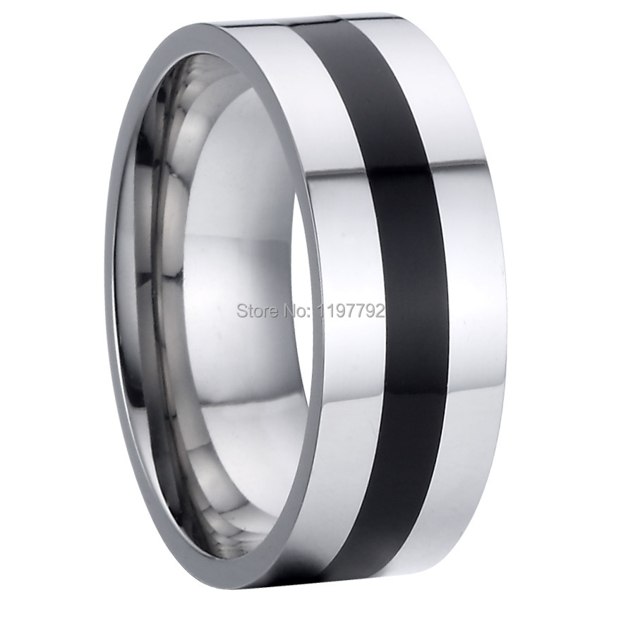 Fine Jewelry Pure Titanium Steel Cool Man Jewelry Mens 8mm Wedding Band  Promise Ring Black Onyx Rings Friendship Rings Anel In Rings From Jewelry  ...