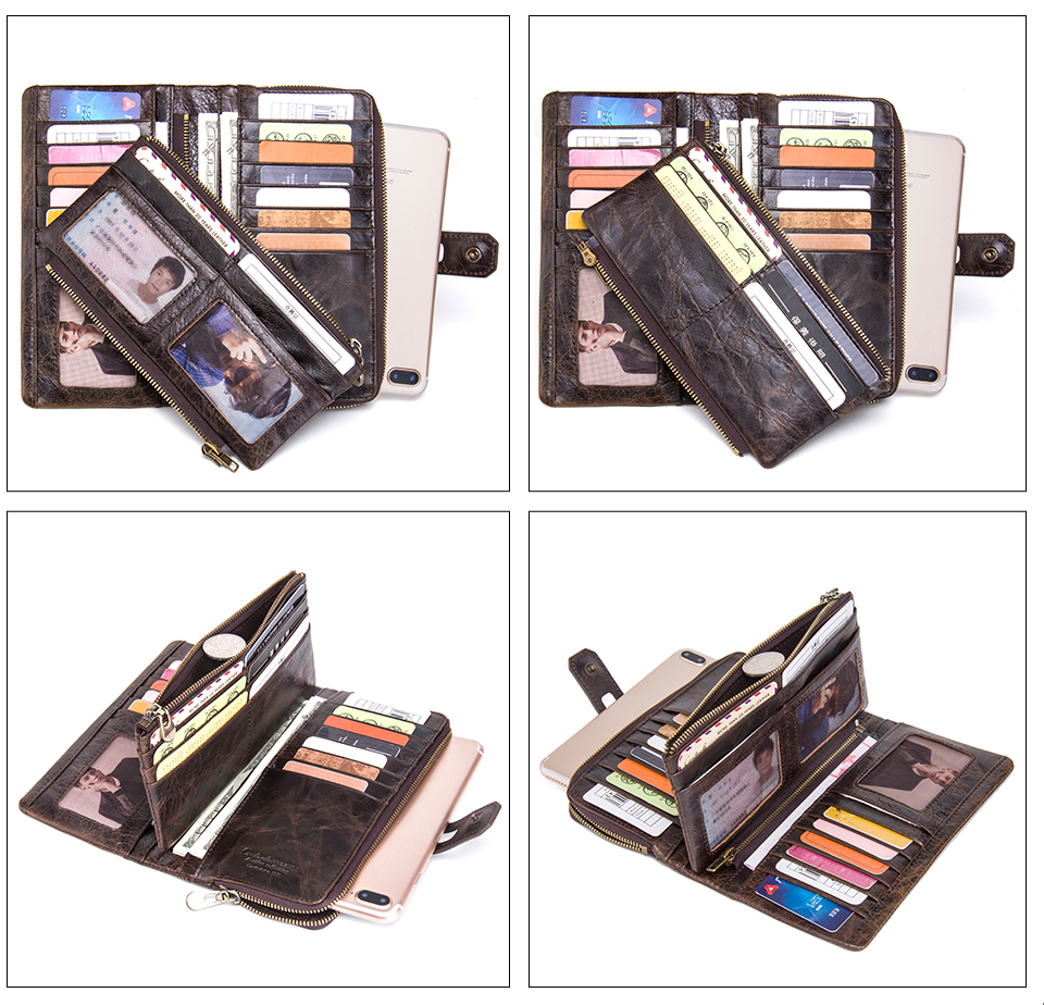 Genuine Leather Card Holder Long Clutch Women's Wallet