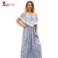 Lurehooker Women Sexy Floral Print Beach Dress Tassel Bikini Cover up Vacation Beachwear for Womens Printing Beach Covers
