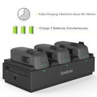 Smatree портативное зарядное устройство зарядная станция для DJI Spark батарея 92Wh Зарядка 3 летные батареи Быстрая зарядка для Ipad