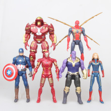 Marvel Avenger Endgame 17CM Super Hero Iron Man Captain Thanos Spider Action Figure Toy Dolls B395