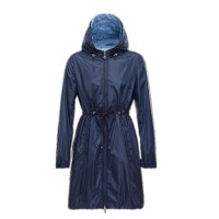 Brand Fashion Maternity Clothing Autumn Winter Long Style With Hooded Womens Rain Jackets Collect Waist Girls