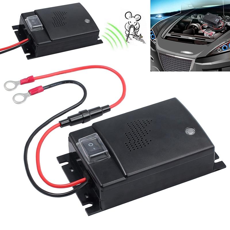 12V Schwarz 9.5*6.5*2,7 cm Fahrzeug Ultraschall Störungen Auto Motor Conversion Pest Tier Abweisend Controller Maus