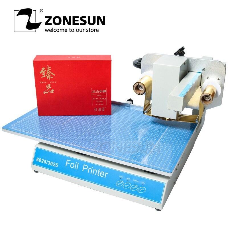 ZONESUN машина горячего тиснения Цифровой Лист принтер Бесплатный принтер горячей фольги пластиковый кожаный ноутбук пленочная бумага без шт