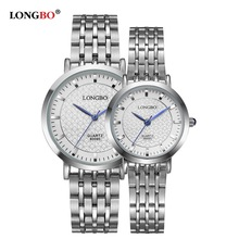 Couple Watches 2017 Fashion Female Dress Wristwatch Stainless Steel Strap Big Dial Business Silver Quartz Watch Gift Wristwatch