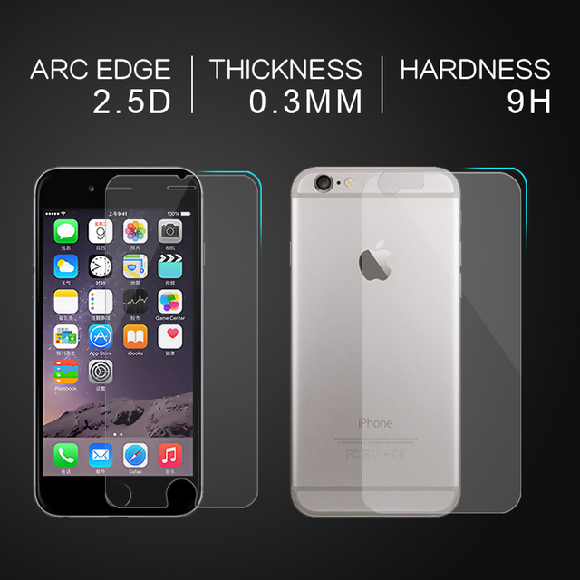 Front and Back 2X Tempered Glass for iPhone X 8 7 6 6S Plus Screen Protector For iPhone 4 4S 5 5s SE Protective Gehard glas sklo 3