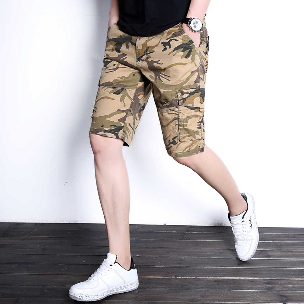Camouflage Camo Cargo Summer Shorts Men 2019 Fashion Mens Casual Shorts Male Loose Work Shorts Man Military Short Pants DK18010