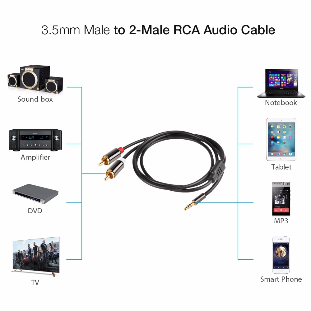 Rca cable jack 35 mm to 2 rca audio cable aux splitter 35mm stereo rca cable jack 35 mm to 2 rca audio cable aux splitter 35mm stereo male greentooth Image collections