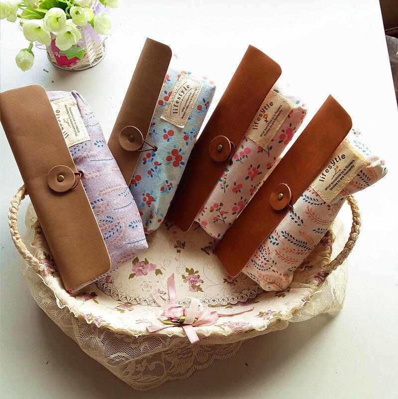 1 шт./лот Новая Мода Старинные Красивый цветок печатных карандаш сумка ручка сумки школа товары для офиса
