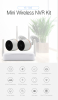 YobangSecurity Home Video Audio Outdoor IP Camera 1080P Wifi Mini 4CH NVR Kit Wireless CCTV Security Surveillance Camera System