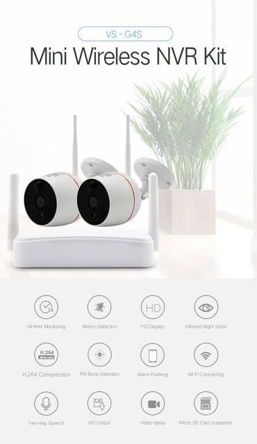 Yobangsecurity домашний Видео Аудио Открытый IP камера 1080 P Wi Fi Мини 4CH NVR комплект беспроводной видеонаблюдения системы скрытого