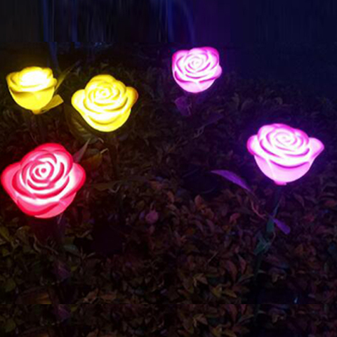 24ip65 6pcs led rosa luz solar do