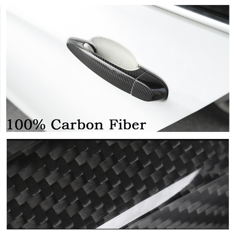 Rear Carbon Fiber Door Handle Bar Cover sticker car accessories styling For BMW X3 F25 2011-2016 X1 E84 2010-2014 X5M x5 M F70 car rear trunk security shield cargo cover for volkswagen vw tiguan 2016 2017 2018 high qualit black beige auto accessories