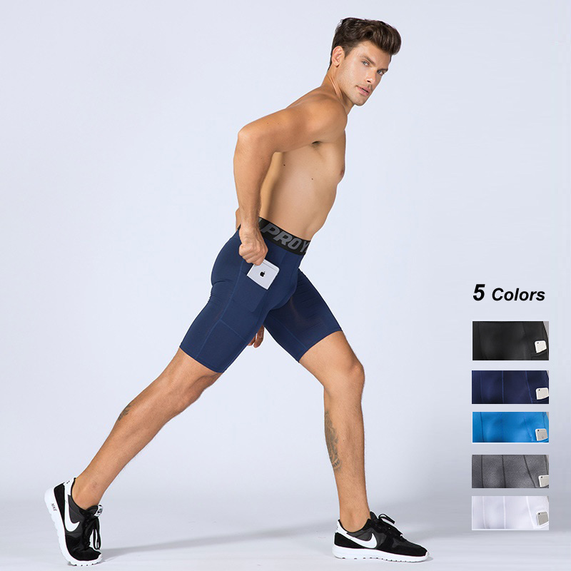 Matching Pocket Double Tight Outdoor Sports Men/'s Gym Training Quick Dry Shorts