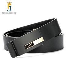 FAJARINA Brand Design Mens Belt Luxury Style Real Leather Belts for Men Metal Buckle Men Genuine Leather Male Strap Jean LUFJ362