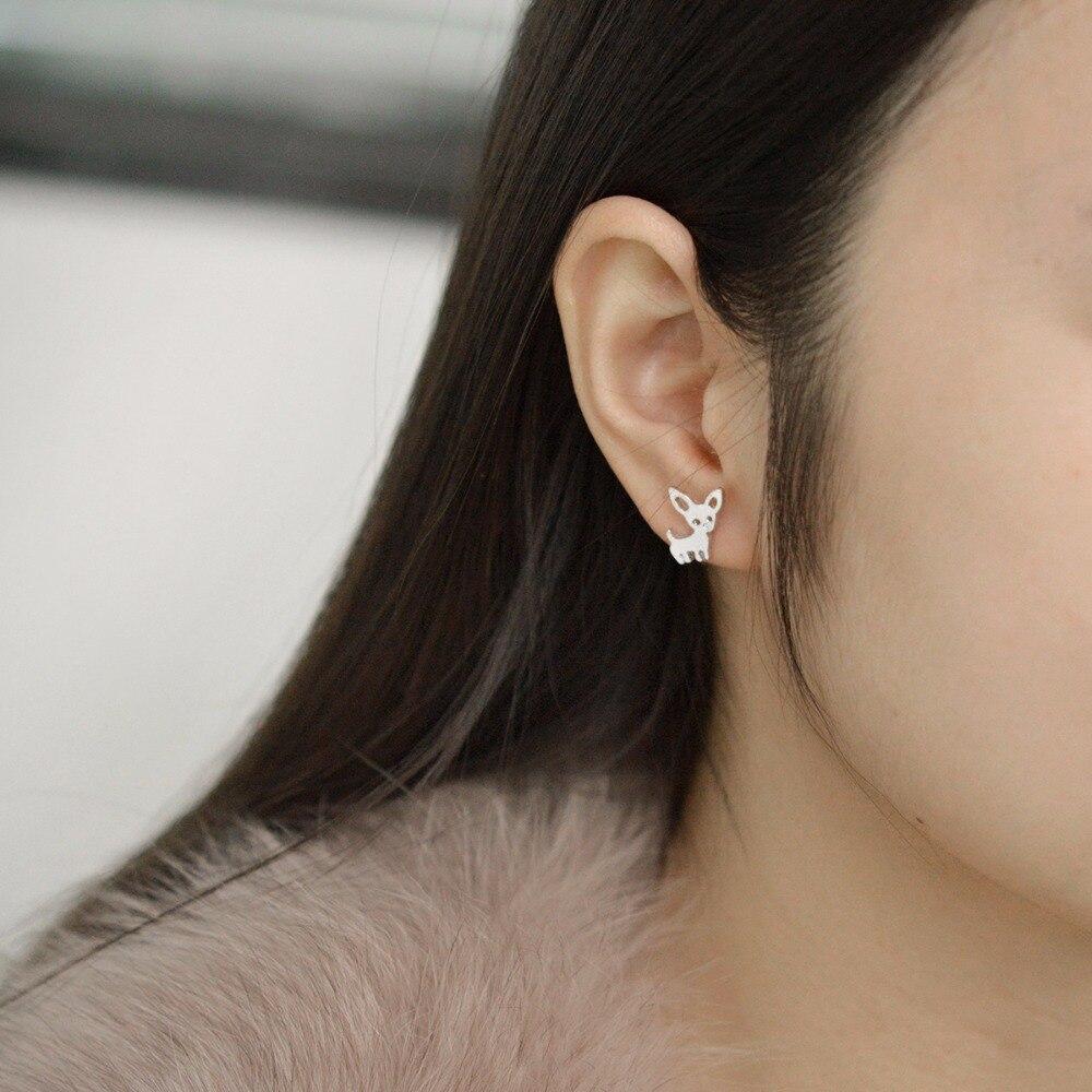QIHE JEWELRY Stud earrings 3 color deer earrings Simply tiny delicate earring Women girl jewelry Deer jewelry Gift for her
