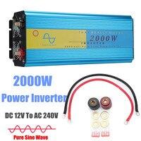 4000W P eak LED Solar Power Inverter DC 12V To AC 240V Pure Sine Wave Converter car caravan boat camping + LCD Display