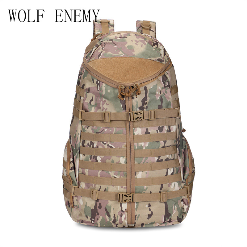 600D Durable Oxford Multipurpose Solid Outdoor Army Assault Airsoft Tactical Molle Backpack 60L atemi ats600 outdoor sunny 600