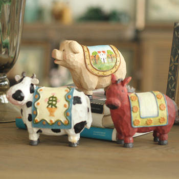 American country retro old villa high-grade resin decoration Home Furnishing animal Articles 3 selected accessories