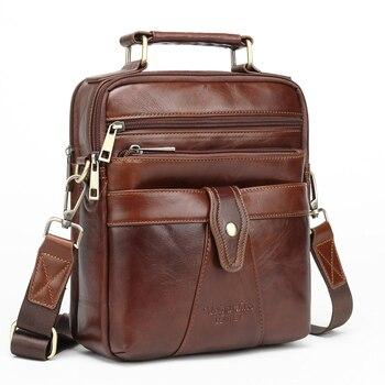97e2c1769 MEIGARDASS de cuero genuino bolsos de mensajero para los hombres de  negocios bolsos, bolso de hombro, Crossbody, bolso hombre bolsas monedero  iPad maletín