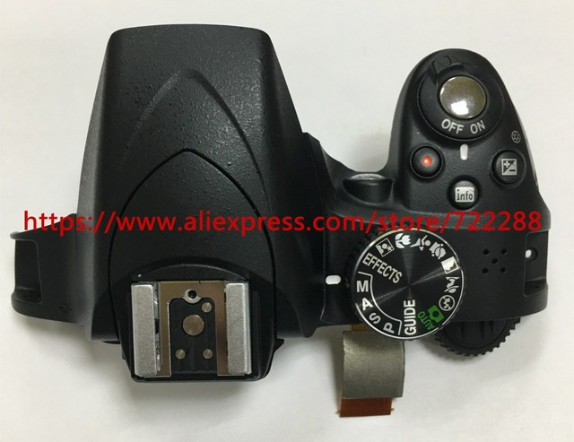 US $69 99  Repair Parts For Nikon D3300 Top Cover Ass'y With Mode Dial  Power Switch Shutter Button Flex Cable Flash Unit 10T0W-in Electronics  Stocks