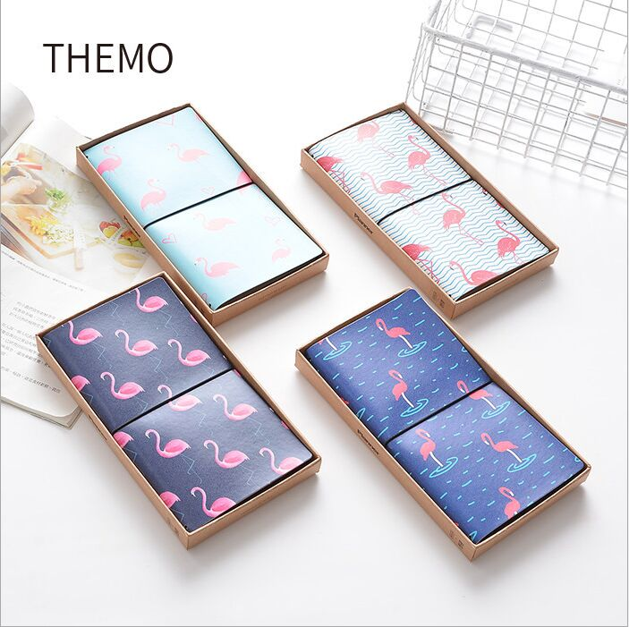 4 Designs Flamingo Love Bird PU Cover DIY Monthly Schedule Notebook Leather Bound Travel Journal Diary Planner Agenda  Notepad the lovely colorful world and flamingo fashion diy a5 journal pu leather 216p 2017 students office supplies free shipping