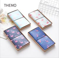The Strolling Flamingo PU Leather Cover Planner Notebook Diary Book Exercise Composition Binding Note Notepad Gift