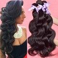Wonder girl onda do corpo brasileiro 4 feixes de cabelo virgem brasileira agrupa 100% cabelo humano barato pacotes tecer cabelo brasileiro