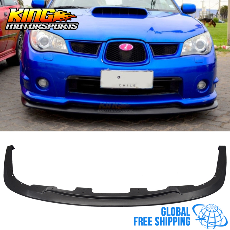 Convient au 06 07 Subaru Impreza WRX STI S204 PP lèvre de pare-chocs avant noir livraison gratuite dans le monde entier