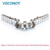 Veconor 3 8 Square Drive Socket Set Socket Bit Crv Quality High Hardness 6 7 8