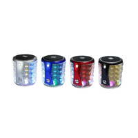 T 2096A Colorful LED Lights Bluetooth Audio Portable Stereo Music Wireless Speaker Support MP3 TF Card