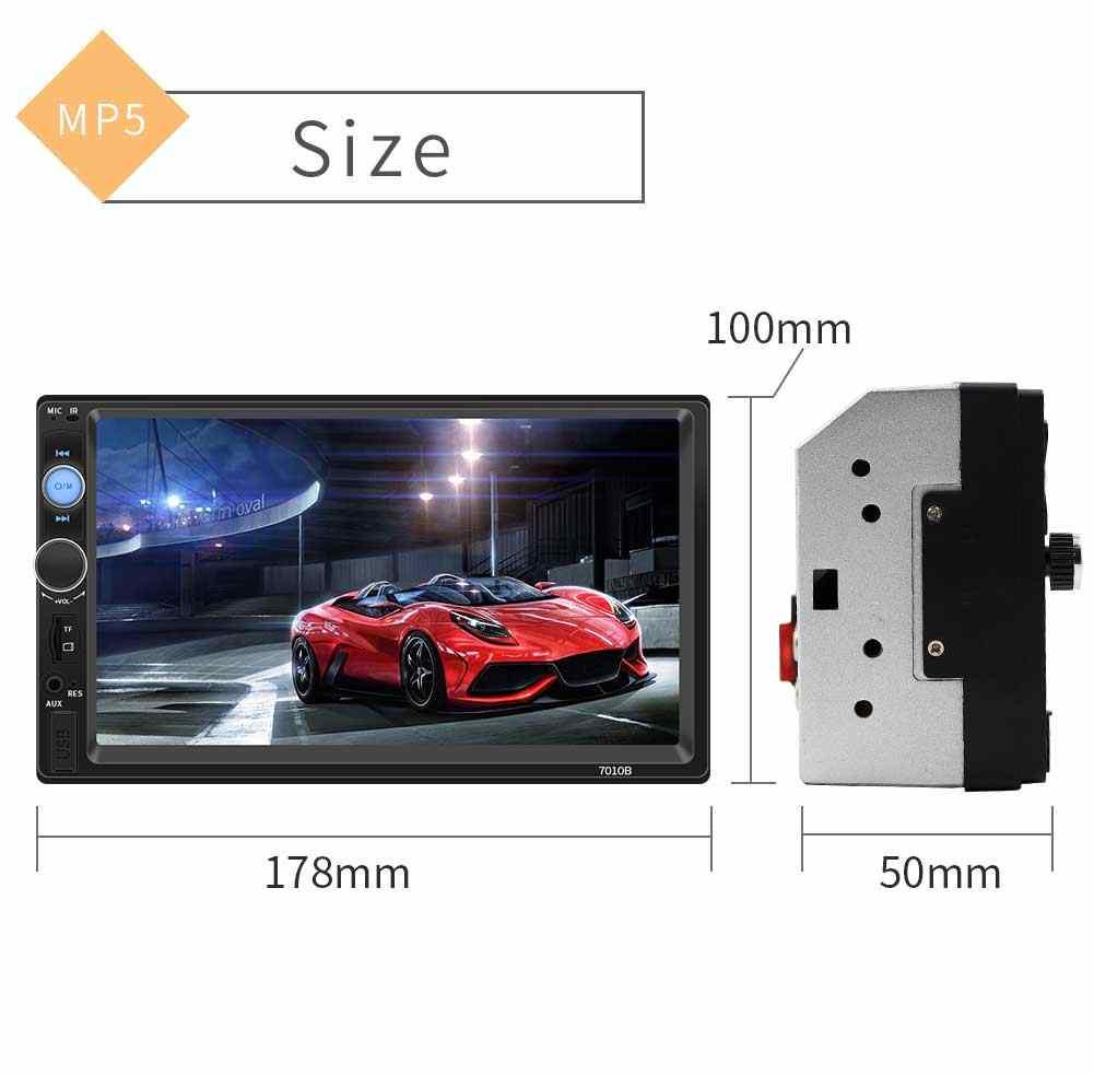 """سيارة راديو 7 """"HD Autoradio مشغل وسائط متعددة 2 الدين MP5 بلوتوث USB الصوت ستيريو اللمس شاشة السيارات FM كاميرا"""
