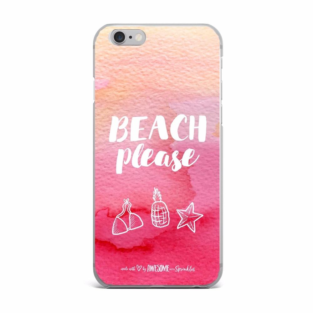 Sidste nye Sommer in Hawaii Strand bitte Telefon Fall Für Apple iPhone 6 6 s GM-54