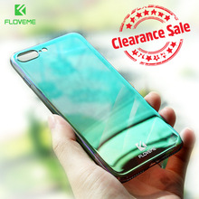 FLOVEME Smooth Mirror Phone Case For iPhone 6 6S 7 Plus Ultra Slim PC Plated Glass Cases For iPhone 5 5S SE 6 6S Plus Funda Caso пластиковая накладка ultra thin air series для iphone 5 5s se пленка белый smooth white sgp09505