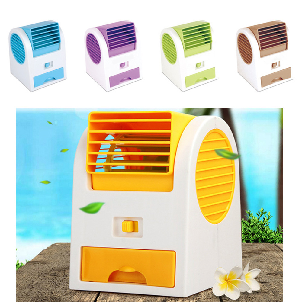 Glantop NEW Hot Portable USB Mini Small Fan Cooling Desktop USB battery two way power Bladeless fan Air Conditioner 2016 year very hot sale new small apple design high quality battery operated min usb powered table fan cooling fan