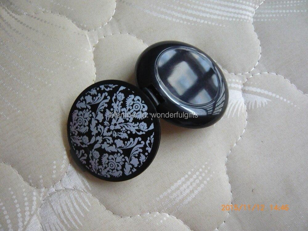 Livraison Gratuite Damask Élégant Noir Et Blanc Maquillage Miroir - Pour les vacances et les fêtes - Photo 3