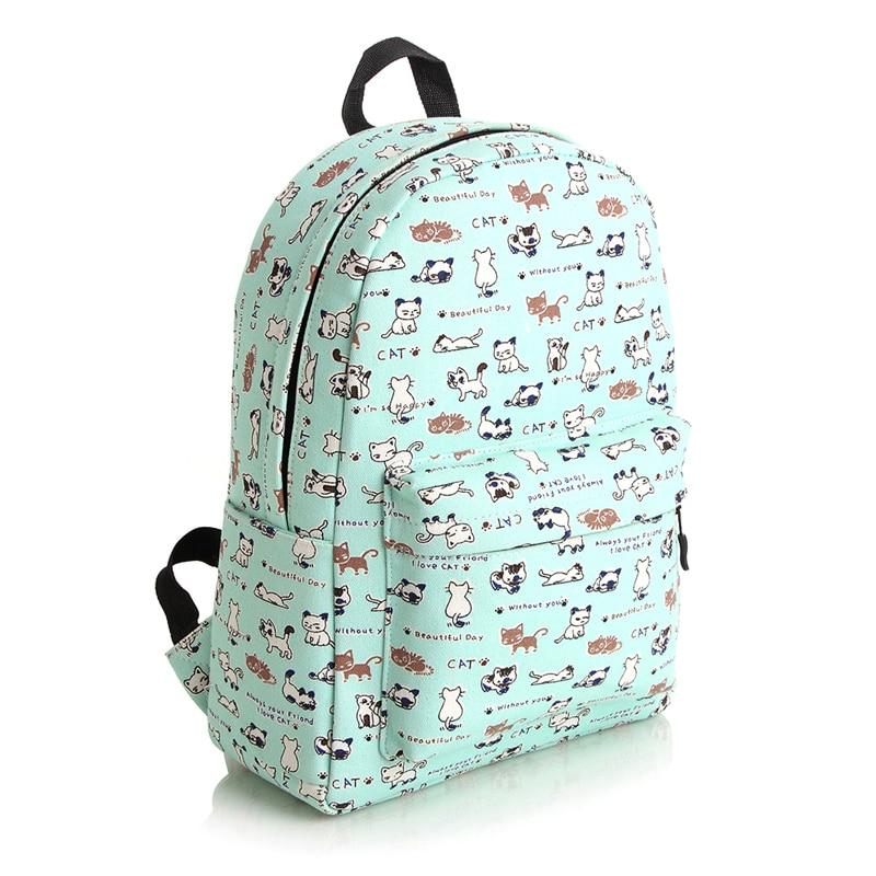 Kawaii Backpack 2015 Cat Backpack Kids Children Women Junior