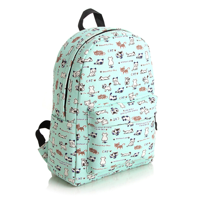 Kawaii Backpack 2015 Cat Backpack Kids Children Women Junior ...