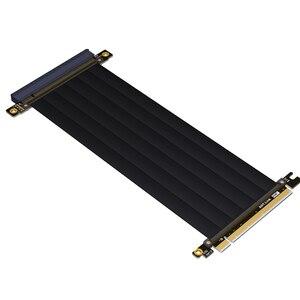 Image 3 - PCI E X16 כדי 16X 3.0 זכר לנקבה Riser כבל מאריך כרטיס מסך מחשב PC Chasis PCI Express Extender סרט 128G/Bps