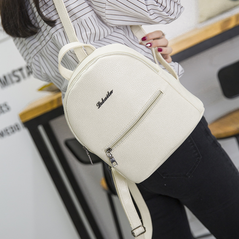 2019 New Backpack Summer Small Women Backpack Candy Color Student Travel Shoulder Bags Teenager Girls Female Mochila Bagpack(China)