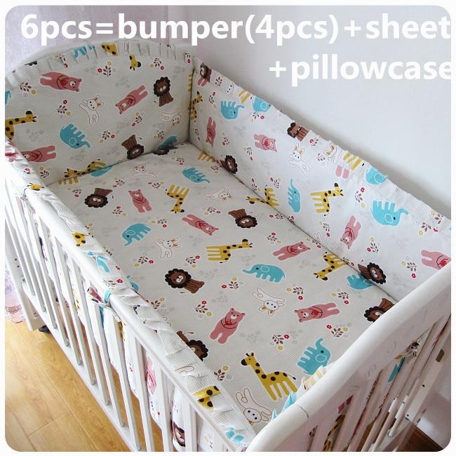 Discount! 6pcs Baby bedding sets 100% cotton baby bedclothes Cartoon crib bedding set ,include(bumper+sheet+pillowcase)Discount! 6pcs Baby bedding sets 100% cotton baby bedclothes Cartoon crib bedding set ,include(bumper+sheet+pillowcase)