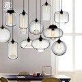 Лофт LED E27 стеклянный подвесной светильник винтажный прозрачный стеклянный абажур Подвесная лампа для бара ресторана спальни зала кафе бар...