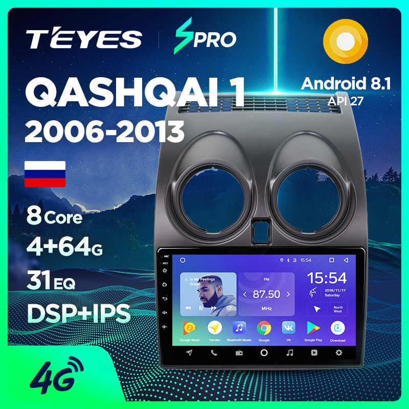 TEYES SPRO araba radyo multimedya Video oynatıcı navigasyon GPS Nissan Qashqai için 1 2006-2013 J10 aksesuarlar sedan dvd yok 2 din