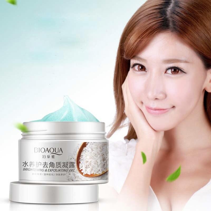 New 140 ml facial scrub exfoliating cream whitening Peeling gel Face gentle clean Balance moisture whiten remove freckle