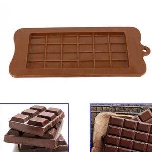 Image 2 - שוקולד תבניות בישול עוגת תבניות באיכות גבוהה כיכר ידידותית לסביבה סיליקון סיליקון עובש DIY 1PC מזון כיתה 24 חלל