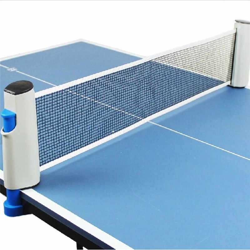 190CM Portable Retractable Table Tennis Table Grid Plastic Strong Mesh Net Rack Replace Kit For Ping Pong Playing Network