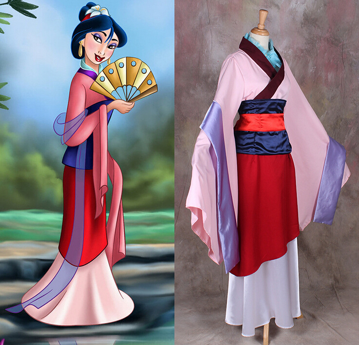 Movie Mulan Costume Chinese Traditional Dress Accept