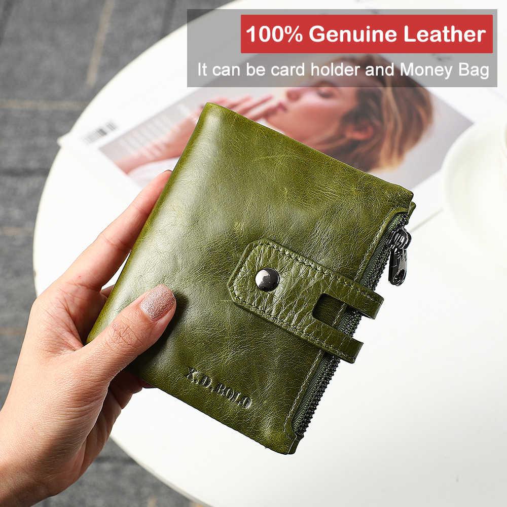 X. D. Боло мода дизайн бумажник для женщин пояса из натуральной кожи держатель для карт Женский кошелек на молнии Короткие клатч женские кошельки с к